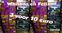 knots gekke actie whiskas en felix 3 voor 10 euro